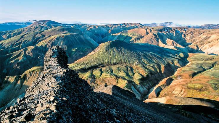 Island liparitové hory